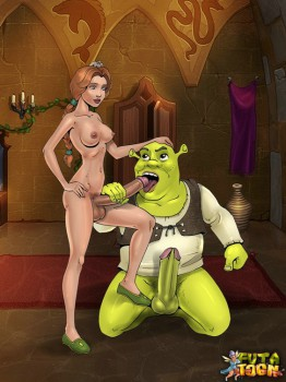 shrek sucks futanari dick
